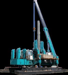 Ép cọc bê tông bằng Robot