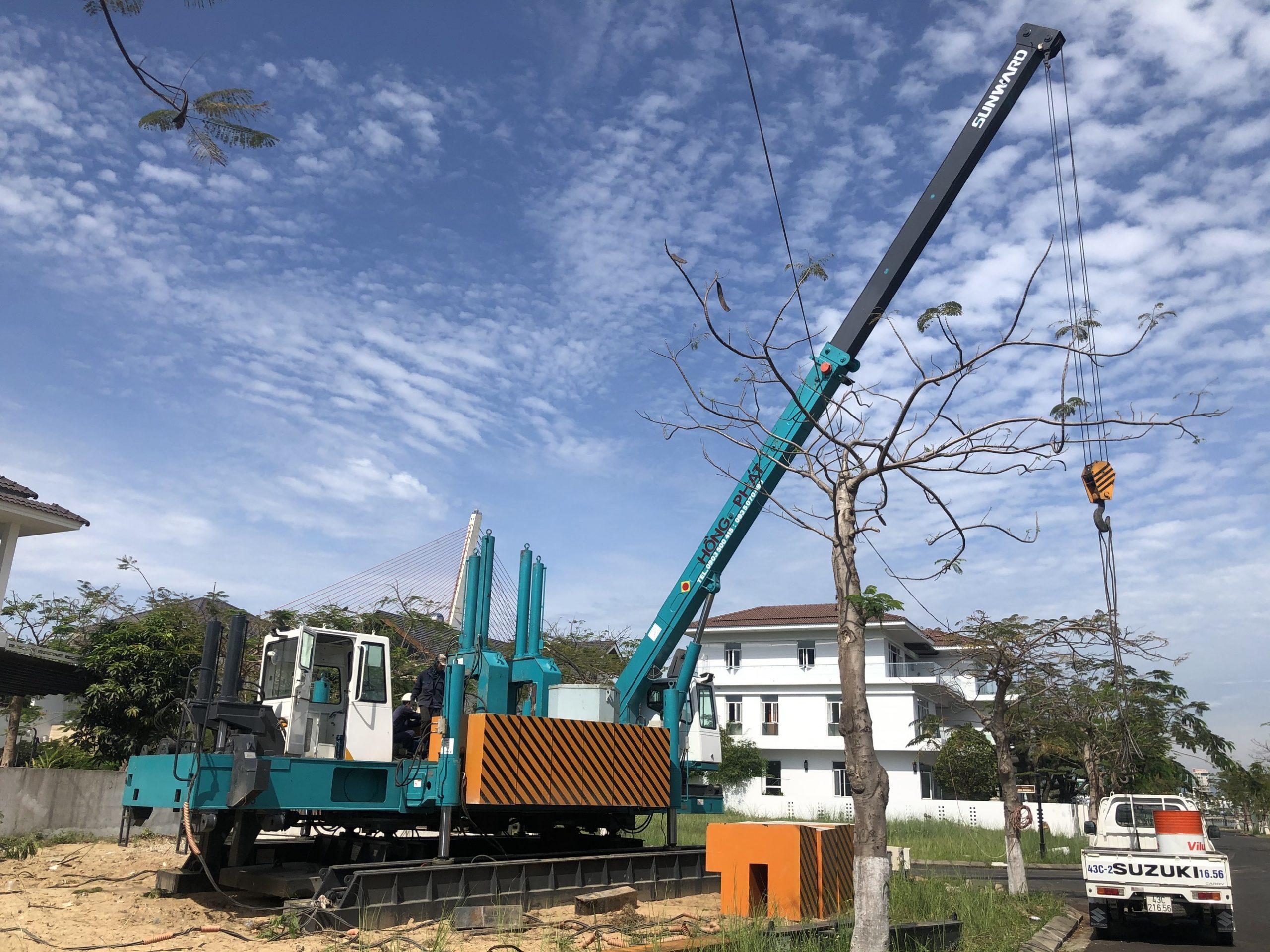 robot ép cọc 200 tại Đà Nẵng