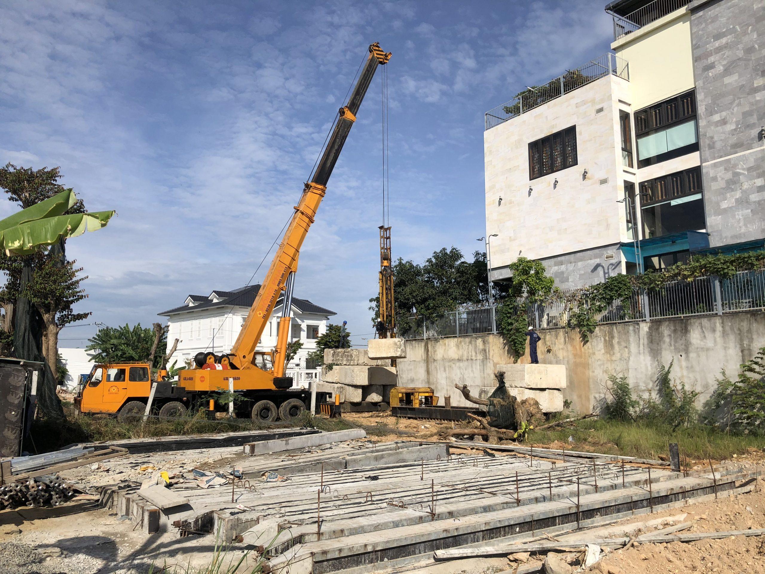 ép cọc bê tông tại Đà Nẵng